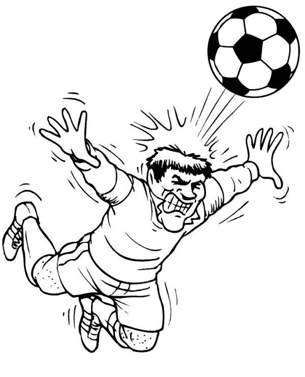 600x741 Heading A Ball Soccer Coloring Pages