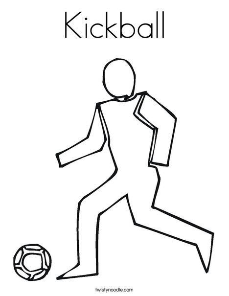 468x605 Kickball Coloring Page