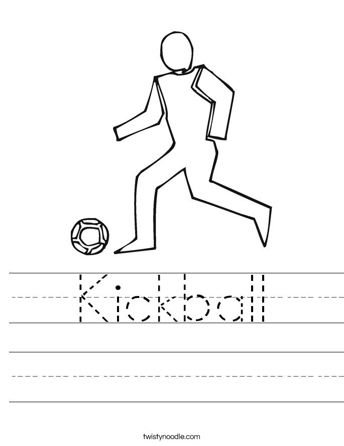 685x886 Kickball Worksheet