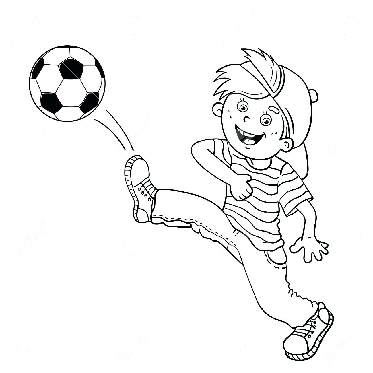 1300x1300 Coloring Coloring Pages Of Soccer Kids Kick Ball Playing Football