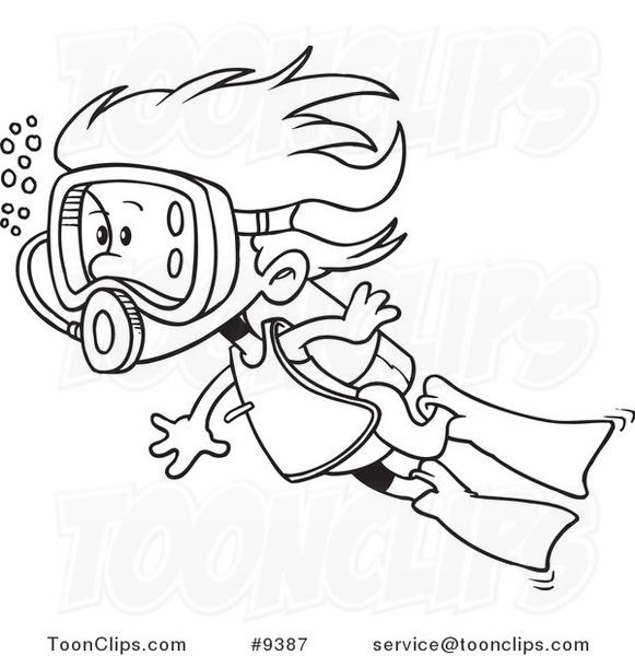 581x600 Cartoon Drawing Swimming Kickboxing Drawings