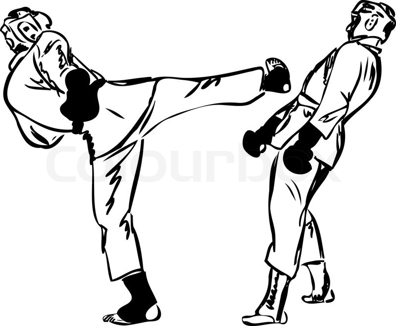 800x658 Karate Kyokushinkai Sketch Martial Arts And Combative Sports