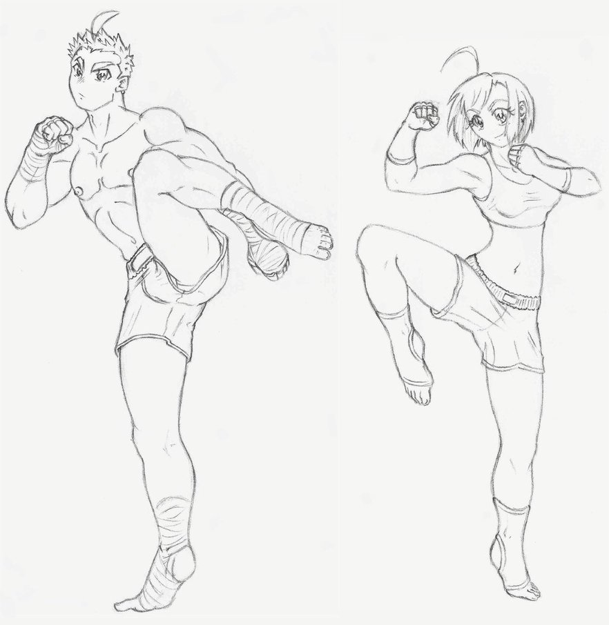 882x906 Keiichi And Violetta Kickboxing By Negapol