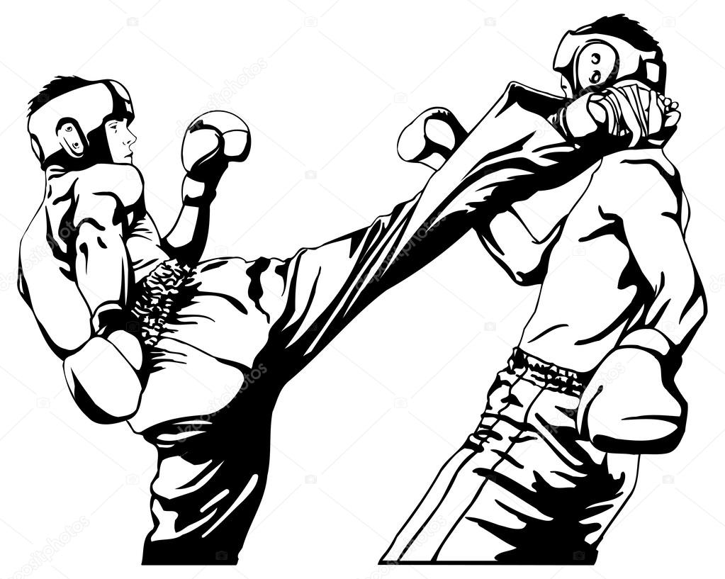 1023x817 Kickboxing Stock Vectors, Royalty Free Kickboxing Illustrations