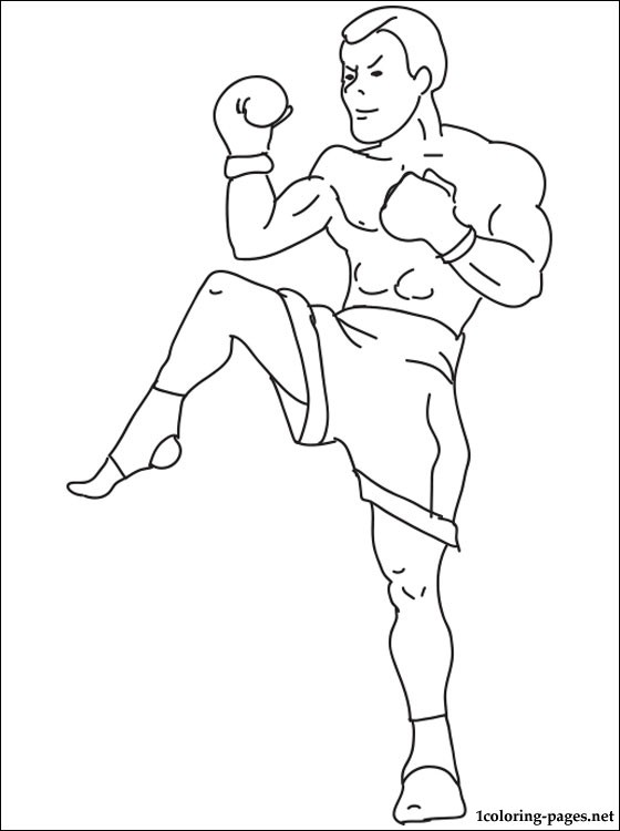 560x750 Kickboxing Coloring Page Coloring Pages