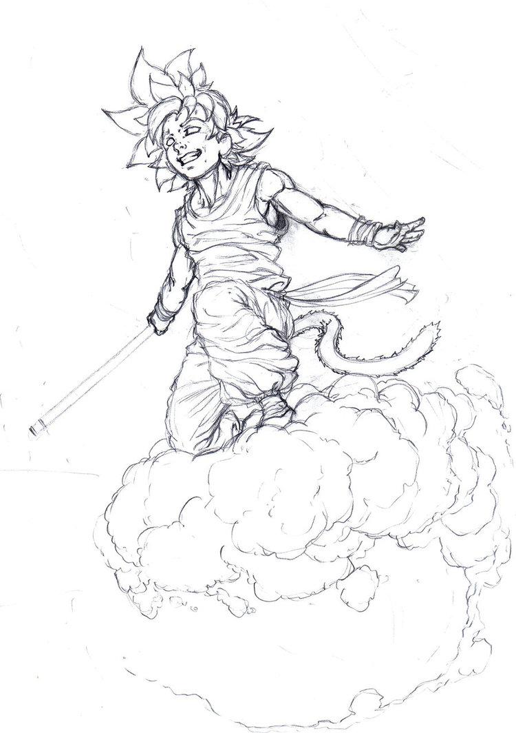 750x1064 Kid Goku By Obi1knobi