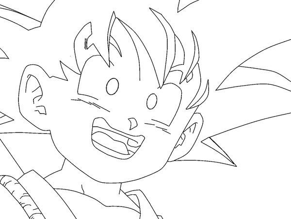 600x453 Kid Goku Lineart By Ruokdbz98