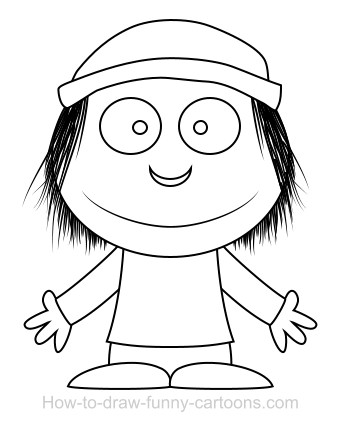 341x425 Drawing A Boy Cartoon