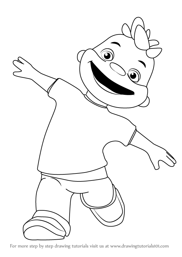 596x843 Learn How To Draw Gerald From Sid The Science Kid (Sid The Science