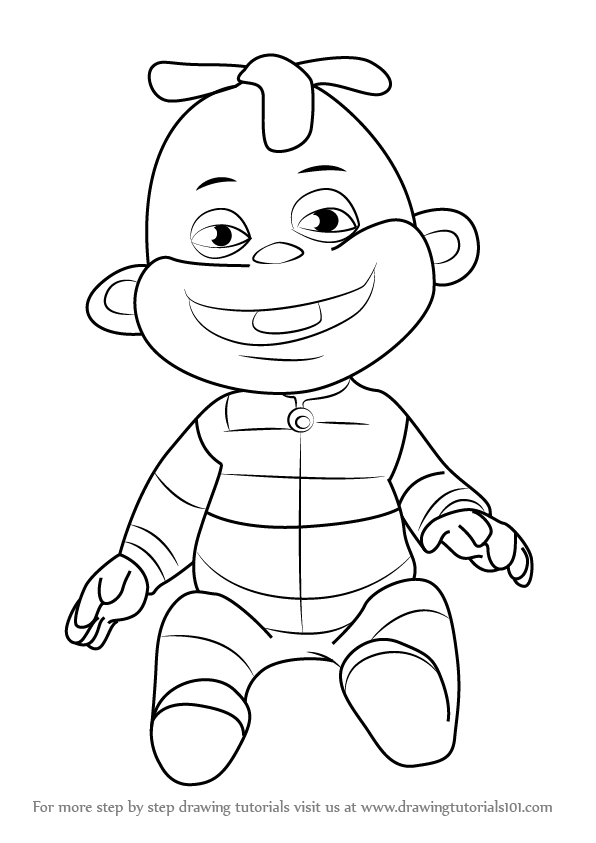 596x843 Learn How To Draw Zeke From Sid The Science Kid (Sid The Science