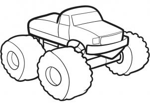 302x217 How To Draw How To Draw A Monster Truck For Kids