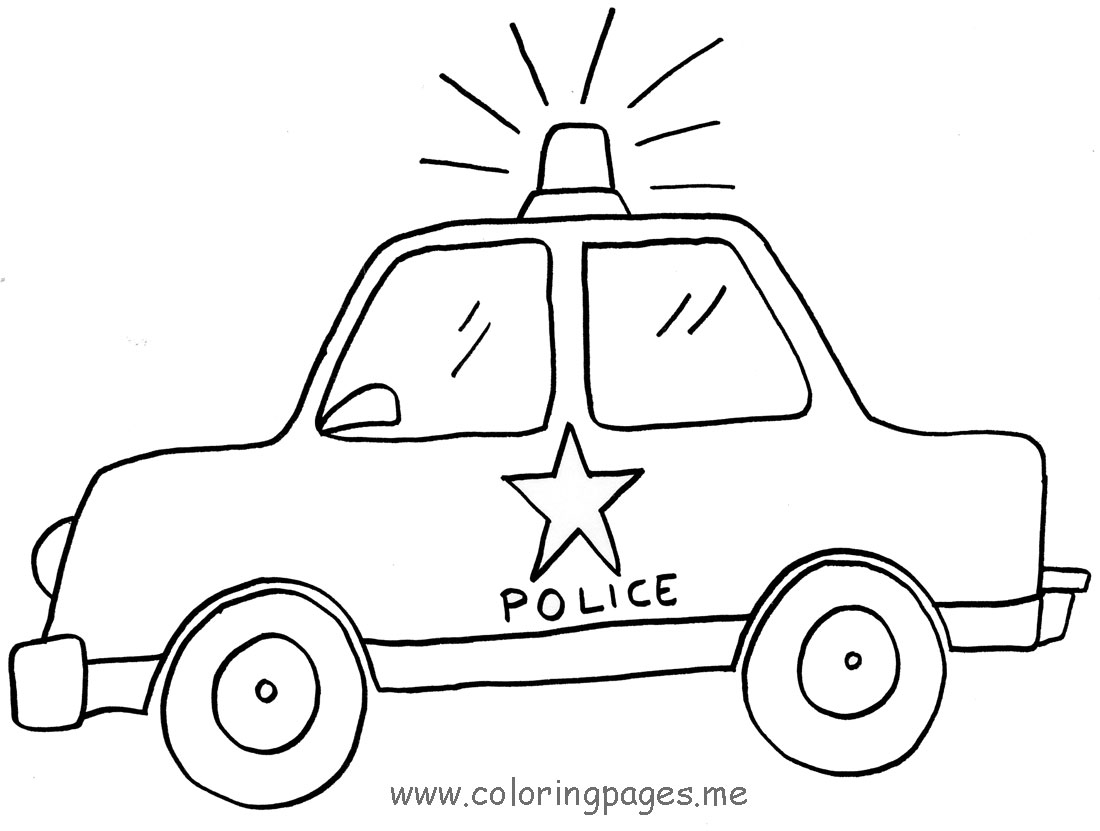 1100x831 Police Car Transportation Coloring Pages For Kids Printable Free