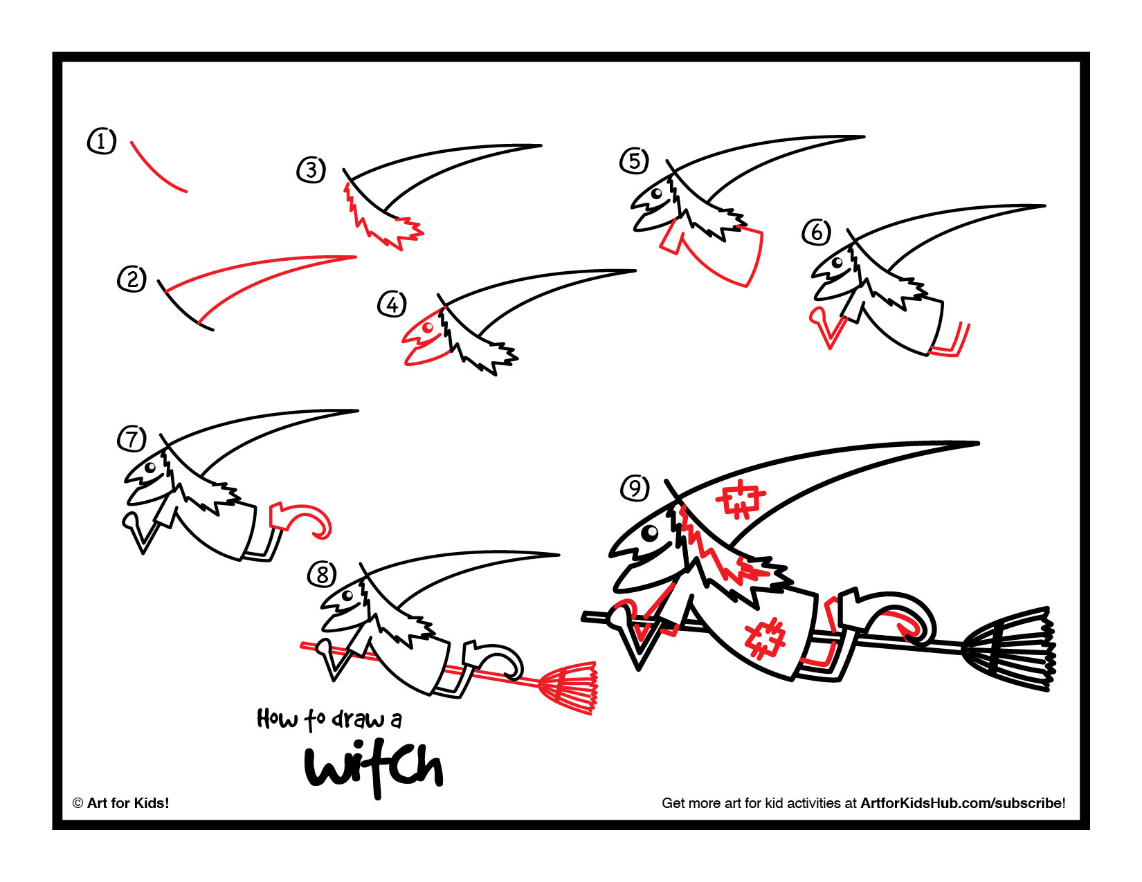 1650x1275 How To Draw A Witch (Cutout)