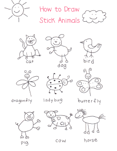 235x305 A Little Inspiration On How To Draw Stick Animals. I Don'T Know