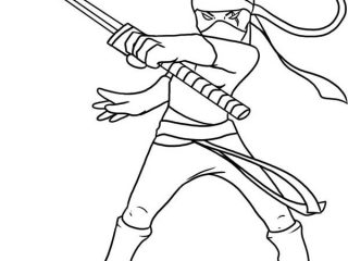 320x240 Ninja Coloring Sheets Kid Drawing Of A Ninja Coloring Page