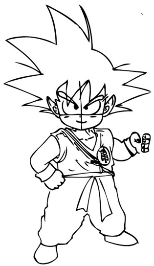 315x544 How To Draw Son Goku As A Child From Dragon Ball Z With Drawing