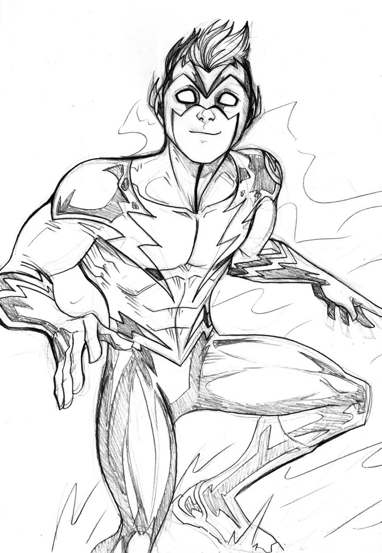 743x1076 Kid Flash Sketch By Lucianovecchio On The Flash