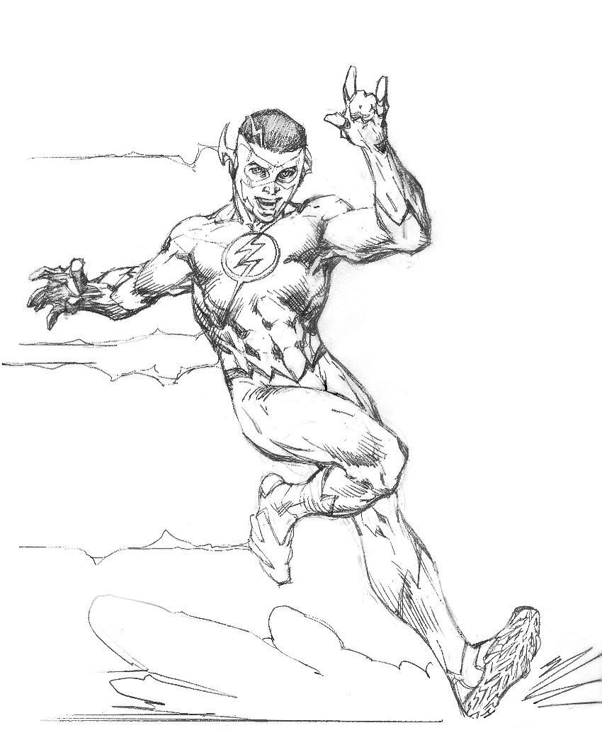 850x1062 Kid Flash Pencils By Jim Lee