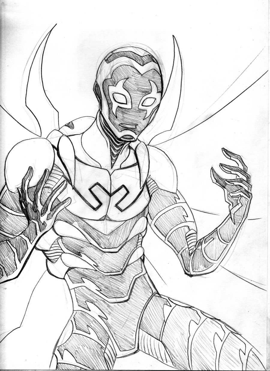 900x1238 Blue Beetle Sketch By Lucianovecchio