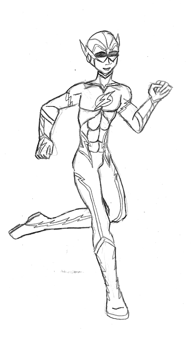 640x1136 Teen Titans Kid Flash By Valor1387