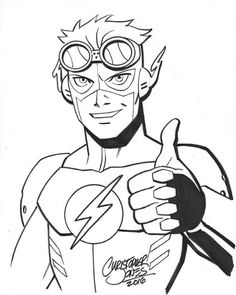 236x295 Wally West Kid Flash Superhero Old Style Kid Flash