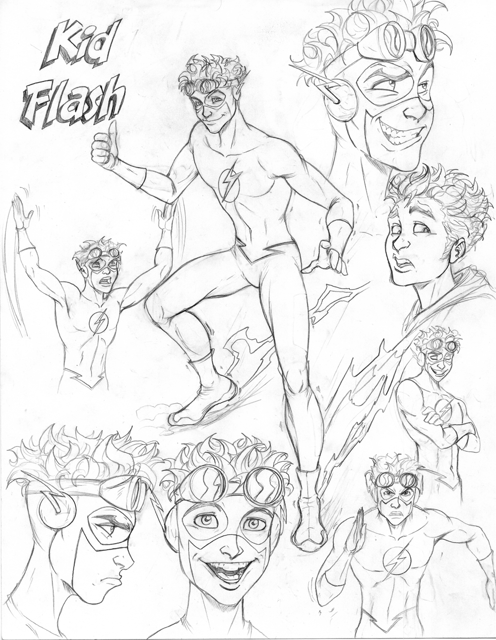1000x1289 Young Justice Cd Kid Flash By
