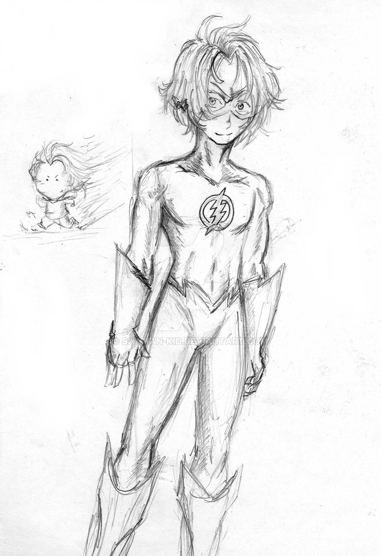 900x1315 Sketch Kid Flash By Shaman Kid