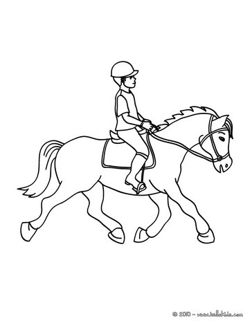 364x470 Kid Training A Horse Coloring Pages