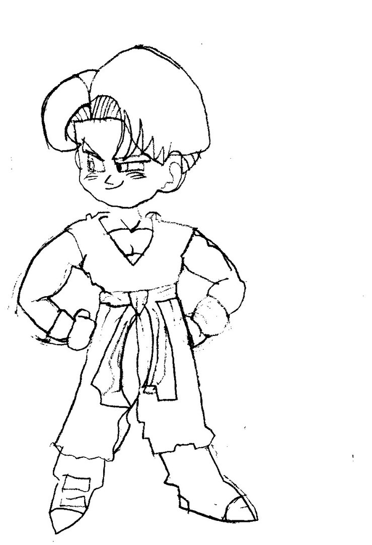 739x1082 My1st Ever Kid Trunks Drawing By Nintendoisforme