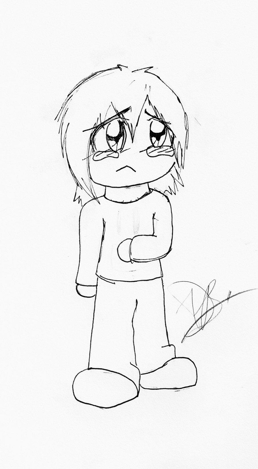 900x1633 Sad Chibi Kid By Professor Guy21