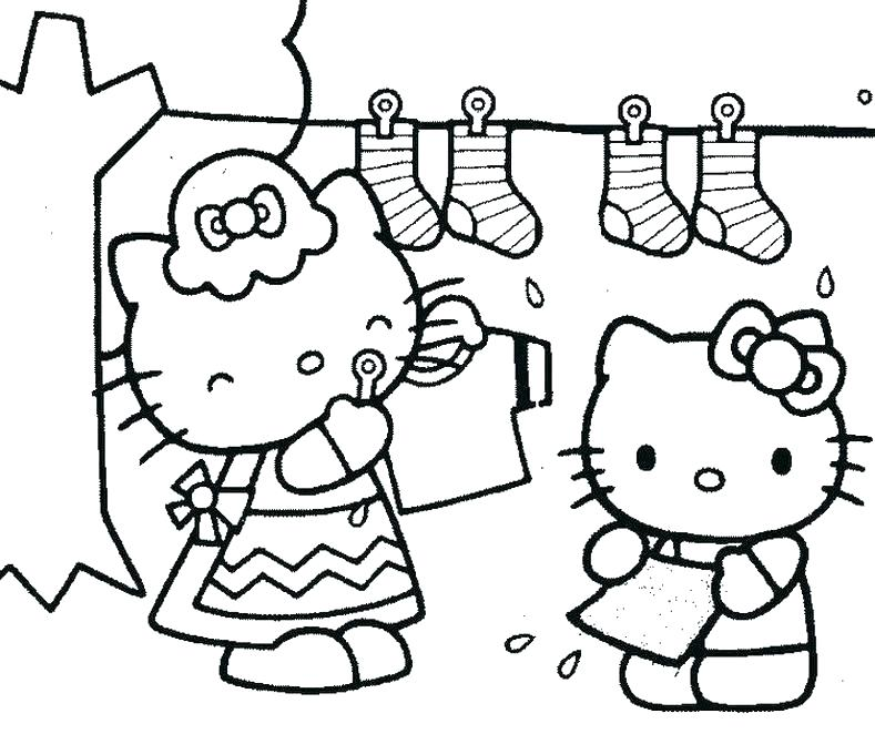 789x662 Kid Coloring Page Pages To Print Of Hello Kitty Free