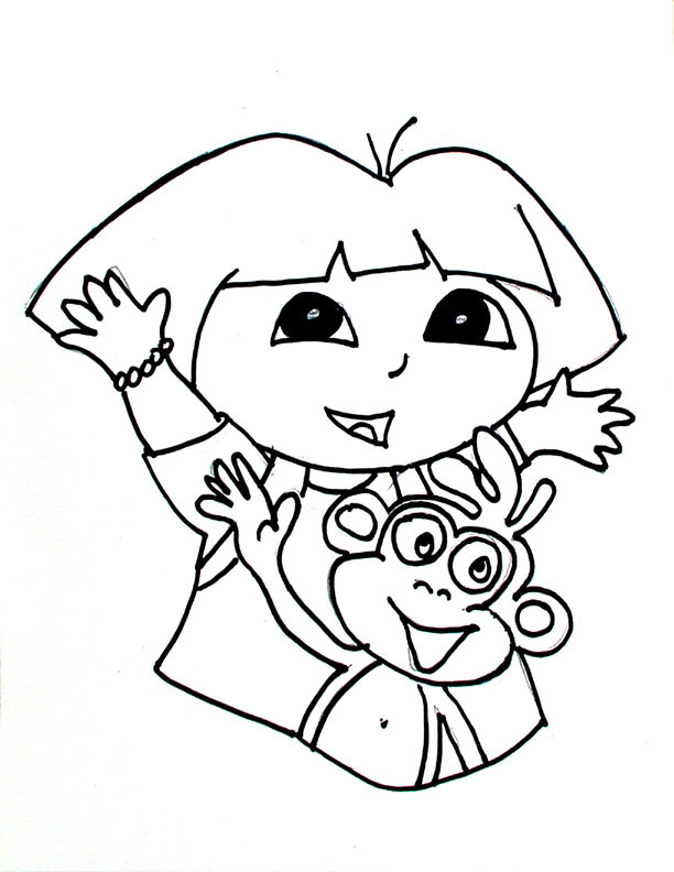 612x792 Beautiful Little Kid Coloring Pages 77 With Additional