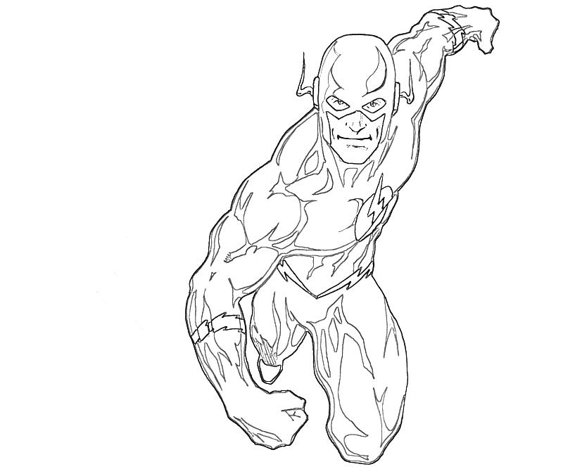 800x667 The Flash Coloring Pages