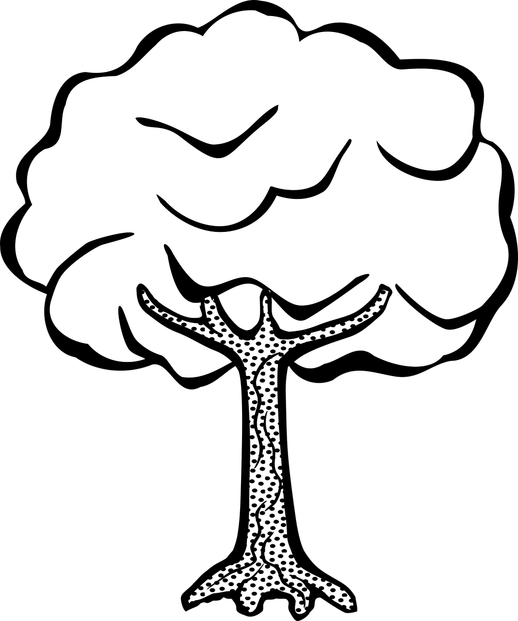 1068x1280 Free Printable Tree Coloring Pages For Kids 14 Pics