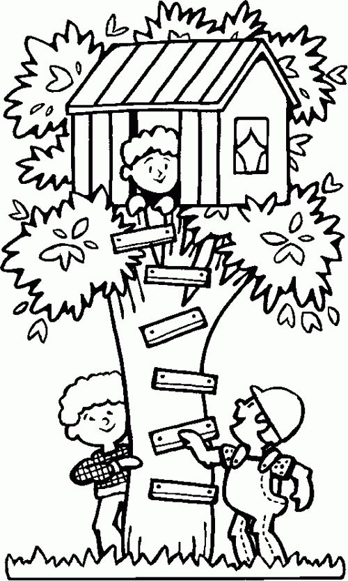 500x834 Pleasing Kids Tree House Drawing Inspiration Design Of 35 Best