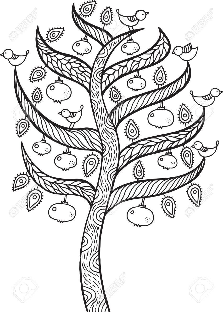 932x1300 Pomegranate Tree