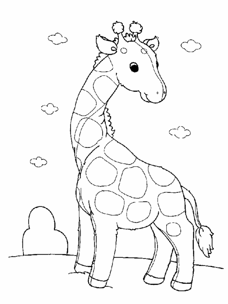 768x1024 Animal Drawings For Children To Print For Kidsfree Printable For