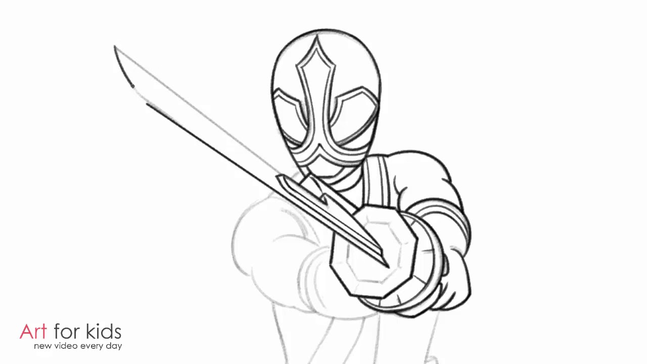 1280x720 How To Draw Red Ranger From Power Rangers Samurai Step By Step