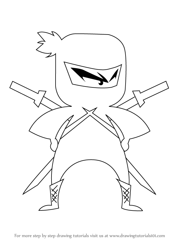598x844 Learn How To Draw Ninja For Kids (Ninjas) Step By Step Drawing