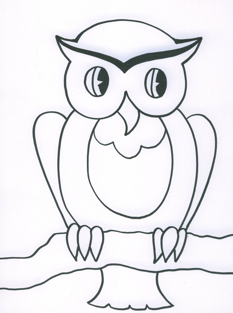 764x1024 Owl Drawing For Kids Many Interesting Cliparts