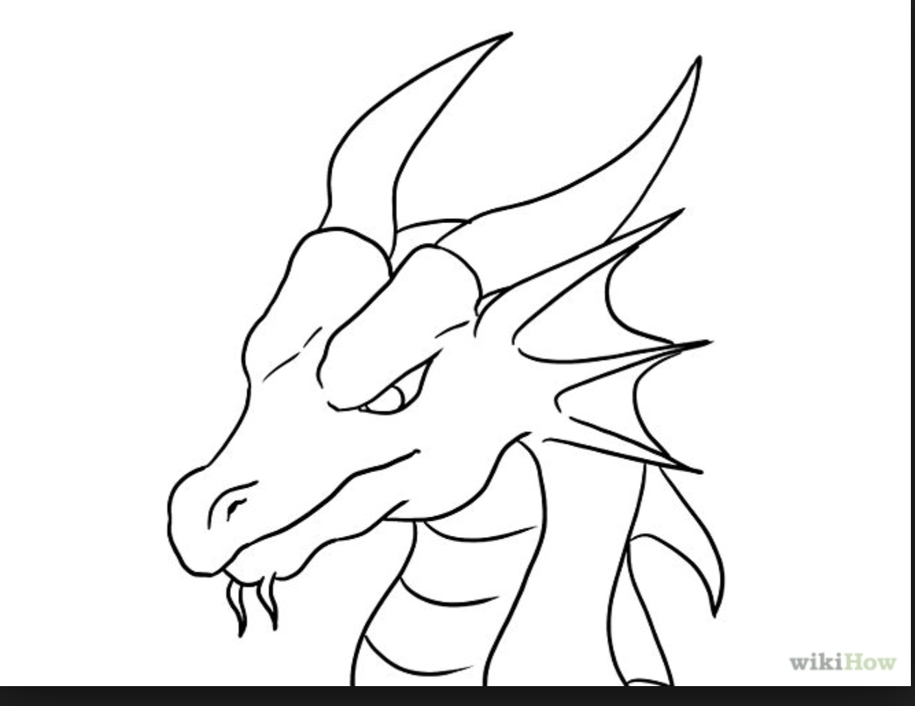 1334x1029 Coloring Pages Simple Dragons To Draw Drawing For Kids Art