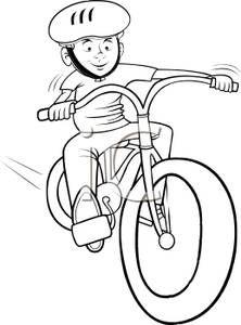 222x300 kids on bikes drawings
