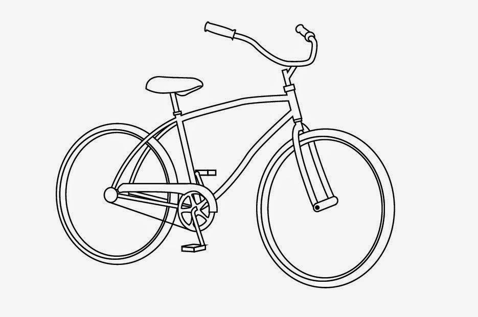 935x621 Bicycle Coloring Drawing Free wallpaper Anggela Coloring Book