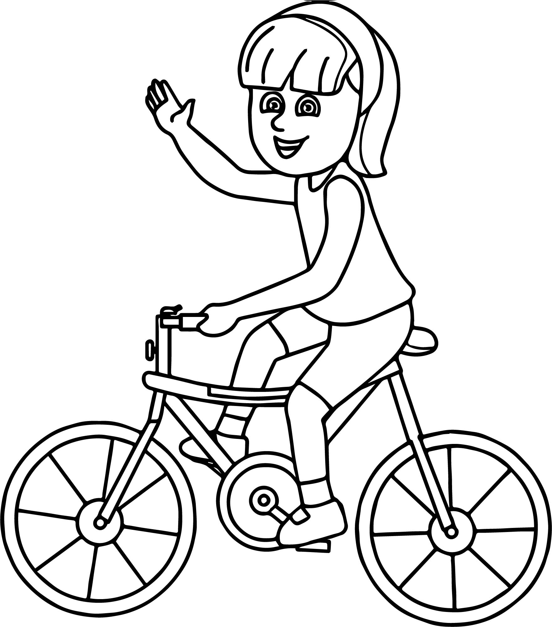 1762x2000 Bicycle Coloring Page