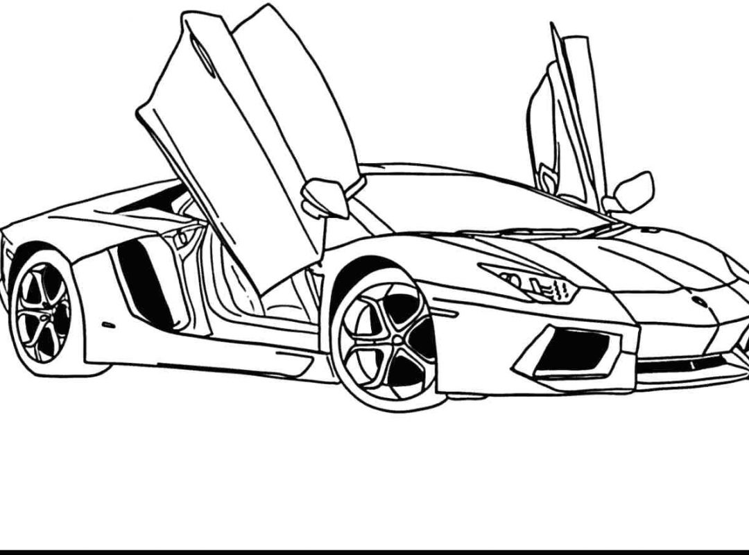 1080x800 Cars Coloring Page Bugatti Veyron2 Pages Lamborghini For Kids Free