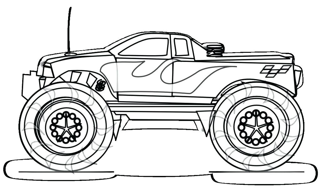 1024x608 Coloring Pages For Kids Cars Cool Car Free