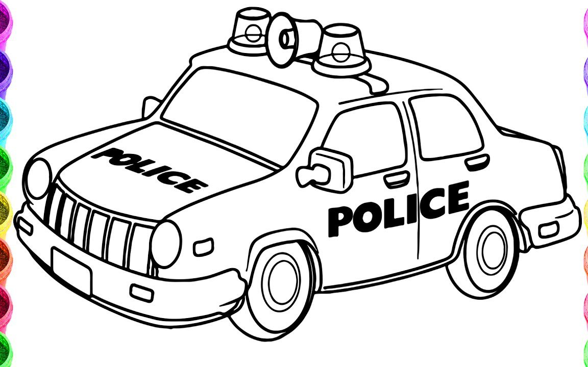 1152x720 Free Printable Police Car Coloring Pages Everfreecoloring General