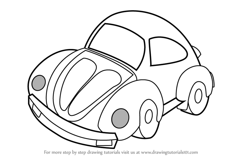 800x566 Learn How To Draw A Car For Kids (Vehicles) Step By Step Drawing