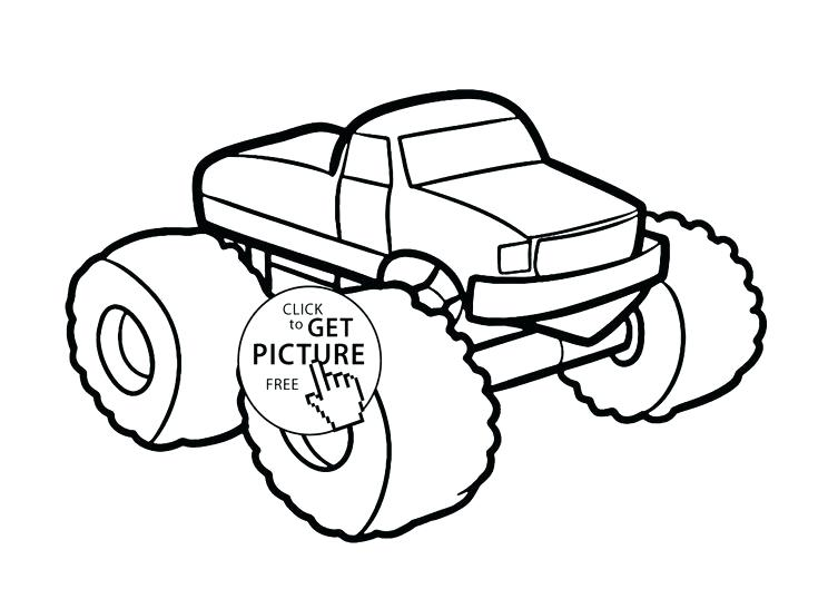735x529 Monster Jam Coloring Pages Printables Monster Car Coloring Page