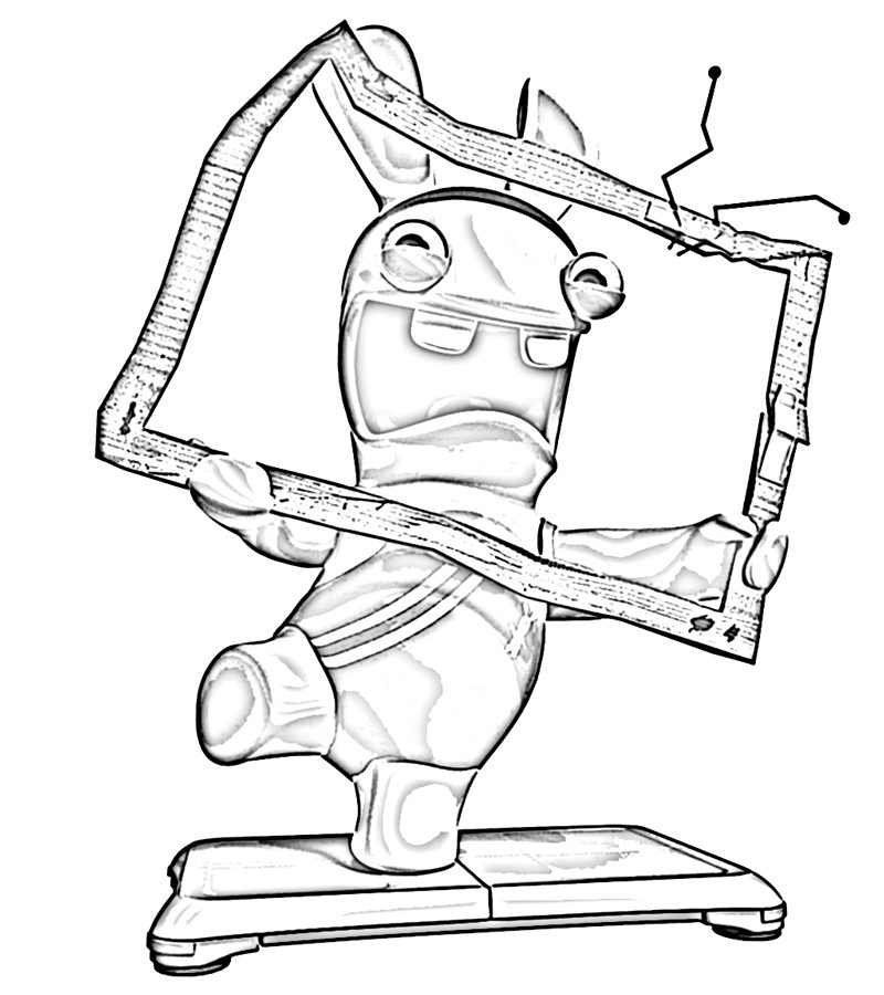 800x900 Coloring Page Rabbids Invasion Funny And Happy Cartoon Pages